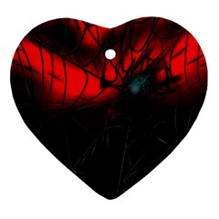Spider Webs Heart Ornament (two Sides) by BangZart