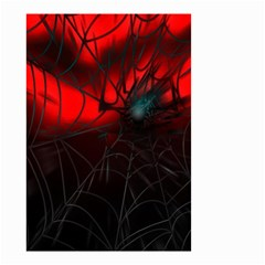 Spider Webs Small Garden Flag (two Sides) by BangZart