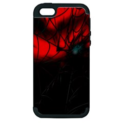 Spider Webs Apple Iphone 5 Hardshell Case (pc+silicone) by BangZart