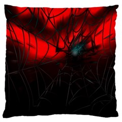 Spider Webs Large Flano Cushion Case (two Sides) by BangZart