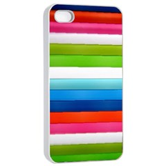 Colorful Plasticine Apple Iphone 4/4s Seamless Case (white) by BangZart