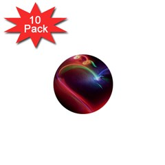 Neon Heart 1  Mini Buttons (10 Pack)