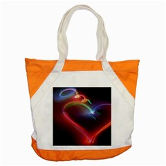 Neon Heart Accent Tote Bag by BangZart
