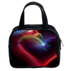 Neon Heart Classic Handbags (2 Sides) by BangZart