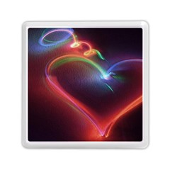 Neon Heart Memory Card Reader (square)  by BangZart