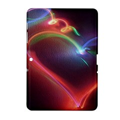Neon Heart Samsung Galaxy Tab 2 (10 1 ) P5100 Hardshell Case  by BangZart