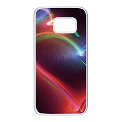 Neon Heart Samsung Galaxy S7 White Seamless Case