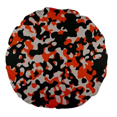 Camouflage Texture Patterns Large 18  Premium Flano Round Cushions by BangZart