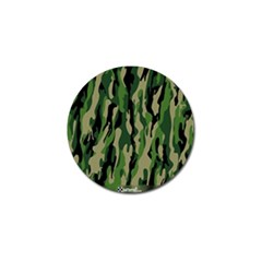 Green Military Vector Pattern Texture Golf Ball Marker (10 Pack) by BangZart