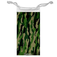 Green Military Vector Pattern Texture Jewelry Bag