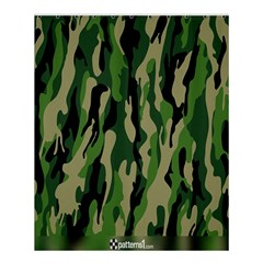 Green Military Vector Pattern Texture Shower Curtain 60  X 72  (medium)  by BangZart