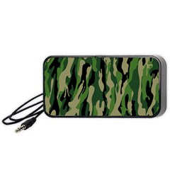 Green Military Vector Pattern Texture Portable Speaker (black) by BangZart