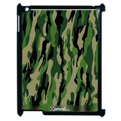 Green Military Vector Pattern Texture Apple Ipad 2 Case (black) by BangZart