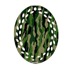 Green Military Vector Pattern Texture Ornament (oval Filigree) by BangZart