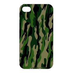 Green Military Vector Pattern Texture Apple Iphone 4/4s Premium Hardshell Case by BangZart