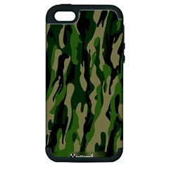 Green Military Vector Pattern Texture Apple Iphone 5 Hardshell Case (pc+silicone) by BangZart