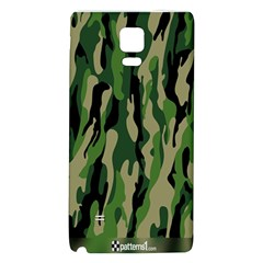 Green Military Vector Pattern Texture Galaxy Note 4 Back Case by BangZart