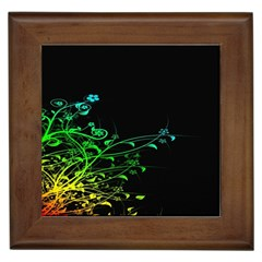 Abstract Colorful Plants Framed Tiles by BangZart