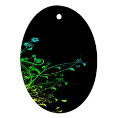 Abstract Colorful Plants Ornament (oval) by BangZart