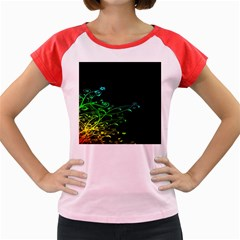 Abstract Colorful Plants Women s Cap Sleeve T Shirt by BangZart