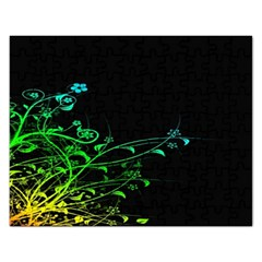 Abstract Colorful Plants Rectangular Jigsaw Puzzl by BangZart