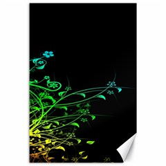 Abstract Colorful Plants Canvas 24  X 36  by BangZart