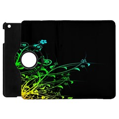 Abstract Colorful Plants Apple Ipad Mini Flip 360 Case by BangZart