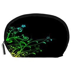 Abstract Colorful Plants Accessory Pouches (large)  by BangZart