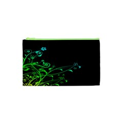 Abstract Colorful Plants Cosmetic Bag (xs) by BangZart