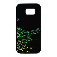 Abstract Colorful Plants Samsung Galaxy S7 Edge Black Seamless Case by BangZart