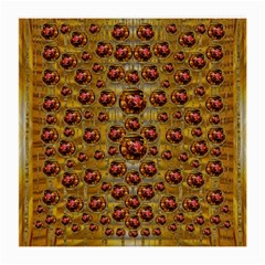 Angels In Gold And Flowers Of Paradise Rocks Medium Glasses Cloth (2 Side) by pepitasart