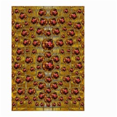Angels In Gold And Flowers Of Paradise Rocks Small Garden Flag (two Sides) by pepitasart