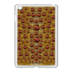 Angels In Gold And Flowers Of Paradise Rocks Apple Ipad Mini Case (white) by pepitasart