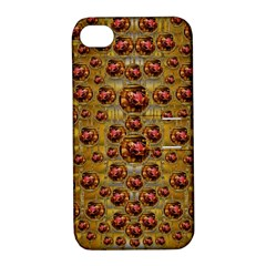 Angels In Gold And Flowers Of Paradise Rocks Apple Iphone 4/4s Hardshell Case With Stand by pepitasart