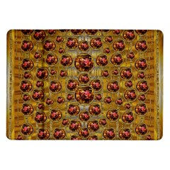 Angels In Gold And Flowers Of Paradise Rocks Samsung Galaxy Tab 10 1  P7500 Flip Case by pepitasart