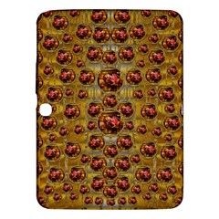 Angels In Gold And Flowers Of Paradise Rocks Samsung Galaxy Tab 3 (10 1 ) P5200 Hardshell Case  by pepitasart