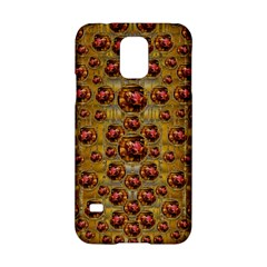 Angels In Gold And Flowers Of Paradise Rocks Samsung Galaxy S5 Hardshell Case