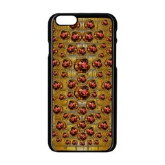 Angels In Gold And Flowers Of Paradise Rocks Apple Iphone 6/6s Black Enamel Case by pepitasart