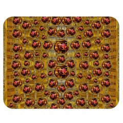 Angels In Gold And Flowers Of Paradise Rocks Double Sided Flano Blanket (medium)  by pepitasart