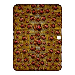Angels In Gold And Flowers Of Paradise Rocks Samsung Galaxy Tab 4 (10 1 ) Hardshell Case  by pepitasart