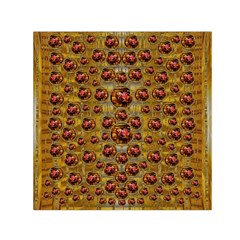 Angels In Gold And Flowers Of Paradise Rocks Small Satin Scarf (square) by pepitasart