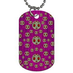 Ladybug In The Forest Of Fantasy Dog Tag (one Side) by pepitasart