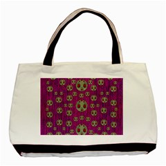 Ladybug In The Forest Of Fantasy Basic Tote Bag by pepitasart