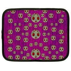 Ladybug In The Forest Of Fantasy Netbook Case (xxl)  by pepitasart