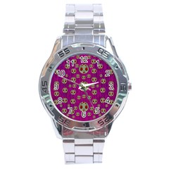 Ladybug In The Forest Of Fantasy Stainless Steel Analogue Watch by pepitasart