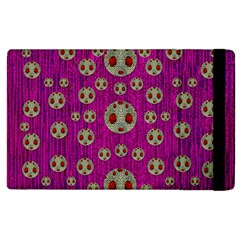 Ladybug In The Forest Of Fantasy Apple Ipad 3/4 Flip Case by pepitasart