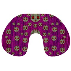 Ladybug In The Forest Of Fantasy Travel Neck Pillows