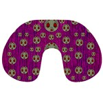 Ladybug In The Forest Of Fantasy Travel Neck Pillows Back