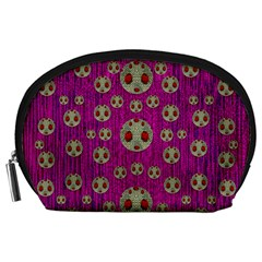 Ladybug In The Forest Of Fantasy Accessory Pouches (large)  by pepitasart