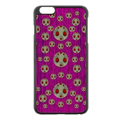 Ladybug In The Forest Of Fantasy Apple Iphone 6 Plus/6s Plus Black Enamel Case by pepitasart